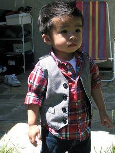 omg asian babies are SO CUTE. no bias intended. Fashion Kids, Little Boy Fashion, Baby Boy Fashion, Toddler Fashion, Cute Toddlers, Cute Kids, Cute Babies, Kid Swag, Baby Swag