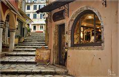 Corfu old town by Nikos Giohalas Corfu Town, Corfu Island, Corfu Greece, Old Town, Explore, Travel, Pearls, History, Photos