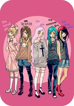 Hipsters my main style! But I'm Pastel Goth and Kawaii too! Even though I listen to heavy metal I don't dress like the hardcore girl