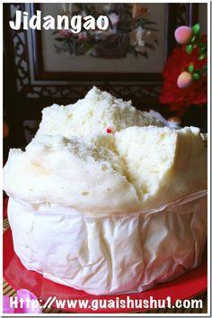 Simplest Traditional Jidangao or Steamed Sponge Cake (简易传统鸡蛋糕) - Guai Shu Shu Chinese Sponge Cake Recipe, Sponge Cake Recipes, Chinese Cake, Chinese Food, Dessert Dishes, Dessert Recipes, Baking Desserts, Steam Cake Recipe, Cream Crackers