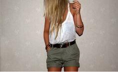 Summertime shorts & tank