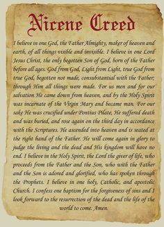 God from God, light from light, true God from true God, begotten not made :: South Texas Catholic (Corpus Christi, TX) Faith Prayer, Prayer Book, My Prayer, Catholic Beliefs, Christianity, Catholic Traditions, Catholic Catechism, Apostles Creed, Spiritus