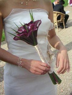 Mariage à thème:calla-arum - Bouquet de roulette270805