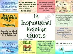 12 Inspirational Reading Quotes  product from TheTeacherCouple on TeachersNotebook.com