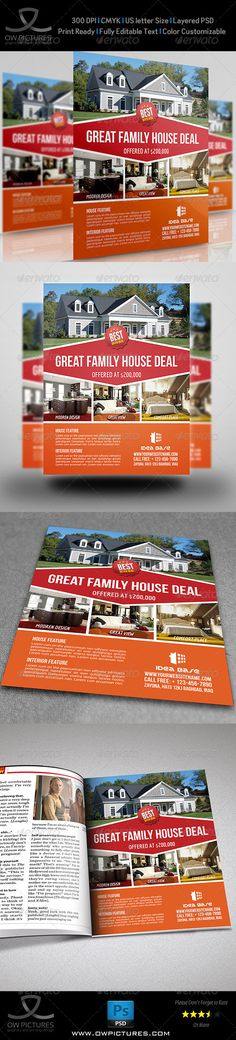 Real Estate Flyer Template PSD | Buy and Download…
