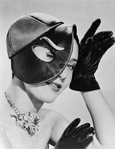 Elsa Schiaparelli hat – her designs were famed for their surrealist touch.