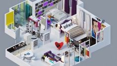 Wow ! Ini Dia Denah Rumah Minimalis Type 45 3 Kamar Terbaru Minimalist House Design, Minimalist Home, Type 45, Projects To Try, Beautiful, Minimalist House, Minimal Home