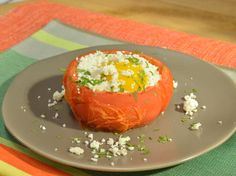 Eggs in Tomatoes recipe from Marcela Valladolid via Food Network
