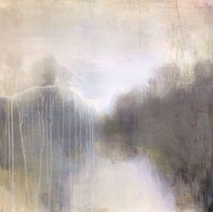 ' A faded landscape, ' by Tonie Rigby, acrylic, 52 cm sq.