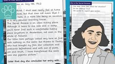 Anne Frank Diary Extract With Questions - Life in the Secret Annex A 1-page quick read comprehension - taken as an extract from the famous Anne Frank's diary. Anne talks about how she feels about the secret annex that they live in. It also shows her change in mood and attitude as the day progresses and how she struggles at times to live in such res... - www.tpet.co.uk - Classroom Resources by Teacher's Pet Comprehension Ks2, Jewish School, Teacher's Pet, Being Used Quotes, Tag People, School Closures, Quick Reads, Thing 1, Anne Frank