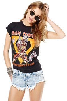 1980s Iron Maiden Somewhere in Time Tee #NastyGalVintage
