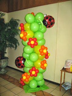 Cómo hacer una Columna con Globos - Decoración con Globos : Fiestas y todo Eventos