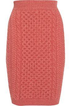 cable-knit wool skirt ++ stella mccartney