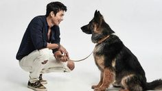 Korean actor Hyun Bin with retired search & rescue dog pup Vision for the campaign against animal cruelty. Vision was involved in 121 missions & saved 13 lives during his service. Hyun Bin, Hyde Jekyll Me, Search And Rescue Dogs, Daddy Long, Man Character, Animal Cruelty, Shepherd Dog, Korean Actors, Korean Dramas