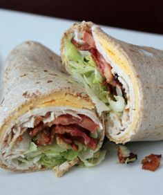 Cooking Pinterest: Turkey Ranch Club Wrap Recipe