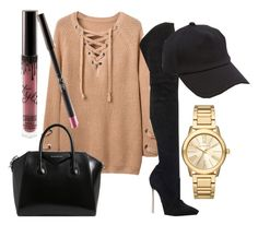 """""""Shopping for the day"""" by itsmaggie4 on Polyvore featuring Casadei, Givenchy, rag & bone, Michael Kors and Kylie Cosmetics"""
