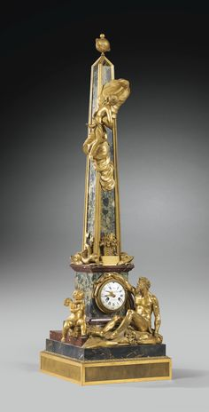 A GILT-BRONZE MOUNTED MARBLE CLOCK, EARLY 19TH CENTURY, CIRCA 1820, THE DIAL SIGNED FRÉDÉRIC DUVAL / A PARIS