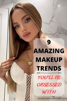 Discover amazing makeup trends 2020-2021, beauty trends, eye makeup, makeup ideas, makeup looks, natural makeup looks, trendy makeup, trendy eyeshadows, glossy eyeshadows, bright lips trend, color eyeliner trend, thin eyeliner makeup, nude makeup ideas, shine skin trend, brushed up eyebrows makeup, red lipstick makeup look, bold eyeshadow and even more trends! #makeup #makeuptrend #makeupideas #makeuplook #naturalmakeup #nudemakeup #redlips #glossyeyeshadows #eyebrows #skin