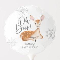Oh Deer Rustic Gray Woodland Baby Shower Balloon Baby Shower Ballons, Baby Shower Themes, Shower Ideas, Woodland Theme, Woodland Baby, Woodland Forest, Oh Deer, Baby Deer, Winter Shower