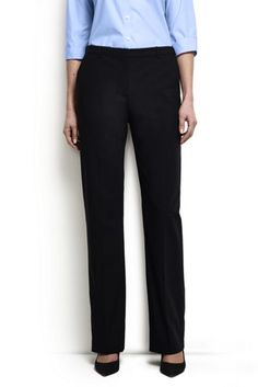 40f527dc703 Women s Washable Wool Plain Comfort Trousers from Lands  End Capsule  Wardrobe Work