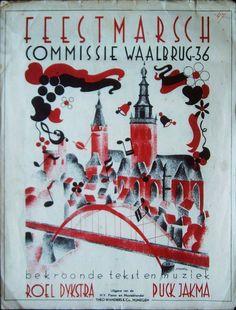 Boekje met een marslied uit 1936. T.g.v. de opening van de Waalbrug in Nijmegen.