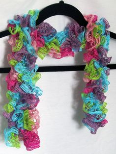 Check out this item in my Etsy shop https://www.etsy.com/listing/203329963/blue-purple-shades-of-pink-and-green