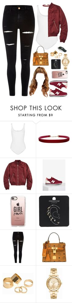 """""""23 November, 2016"""" by jamilah-rochon ❤ liked on Polyvore featuring Wolford, Humble Chic, Topshop, New Balance, Casetify, River Island, MCM, Pieces and Michael Kors"""
