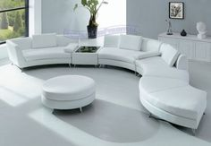 round white leather sectionals | Modern Furniture White Leather Sectional Sofa modern-sectional-sofas