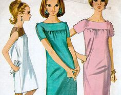 d91ad45879f Simplicity 7123 Vintage Mod DRESS Sewing Pattern