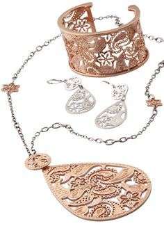 Set of fashion jewelry - fun, trendy, pretty and paisley...at DarcysFineJewelers.com