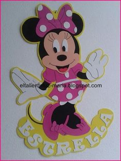 Minnie Y Mickey Mouse, Baby Shower Souvenirs, Disney Pixar, Disney Characters, Kids Birthday Themes, Baby Decor, Beaded Embroidery, Christmas Crafts, Banner