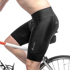 Przewalski Mens Padded Cycling Shorts, Bike Biking Half Pants, Cycle Clothes for Road Riding Biker - Bicycle Padding & Width Anti-Slip Cuff Best Cycling Shorts, Padded Cycling Shorts, Gym Gear For Men, Nike Pro Combat, Bike Seat, Athletic Men, Shorts With Pockets, Sport Wear, Bicycle