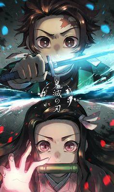Demon Slayer: Kimetsu No Yaiba manga online Otaku Anime, M Anime, Fanarts Anime, Anime Demon, Anime Characters, Anime Art, Anime Wallpaper Phone, Cool Anime Wallpapers, Animes Wallpapers