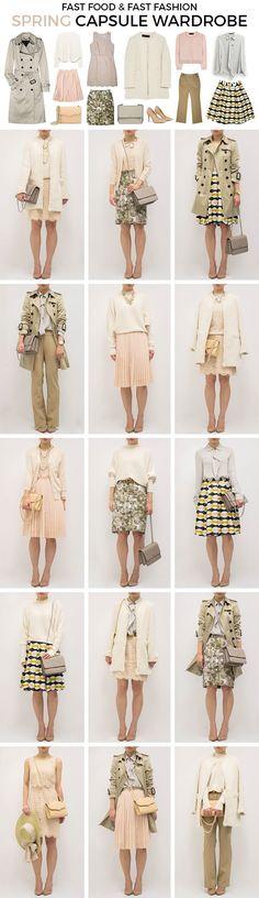 Idee di primavera per una capsule luminosa #fashion #idee #moda #primavera #capsulewardrobe