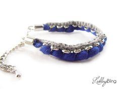 """Armband """"Basic"""" in Blau/Grau von LieblingsBling auf DaWanda.com"""