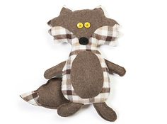 Knuffel-vos | Veritas Baby Dyi, Sewing Projects, Craft Projects, Frog Crafts, Sewing Stuffed Animals, Cute Fox, Sewing Toys, Softies, Cute Babies