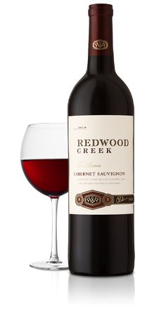Redwood Creek Cabernet Sauvignon - crafted in a medium-bodied style with a rich dark fruit character. Notes of spice, mocha and vanilla culminate in a plush mouthfeel. This rich, flavorful wine can stand up to hearty pastas, grilled meats and sharp cheeses.