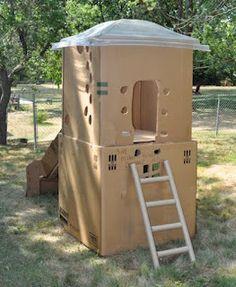 $10 DIY: $10 DIY 2-Story Cardboard Clubhouse