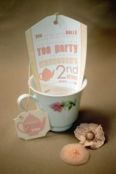We want to do a Tea for Two party for Maddie's 2nd birthday. These invitations are so cute!