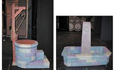 Wishing well and fountain ideas #stage #set #prop