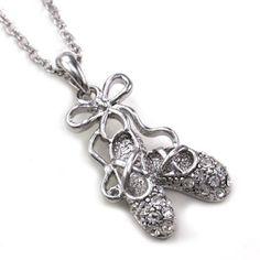 Amazon.com: Dancing Ballerina Dancer Ballet Dance Shoes Pendant Necklace Charm Silver Tone Designer Teens Girls Jewelry: Jewelry