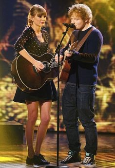 Taylor Swift and Ed Sheeran.. My two favorite people! Love them both so much! Seeing them on my birthday was the best present I could imagine!!