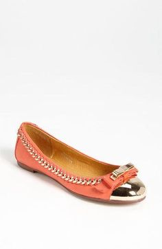 Jeffrey Campbell 'Carrie-B' Cap Toe Ballet Flat available at Nordstrom Cute Flats, Cute Sandals, Cute Shoes, Me Too Shoes, Shoes Sandals, Flat Shoes, Fashion Flats, Girl Fashion, Dream Shoes