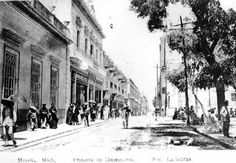 Ramal del tranvía en la calle Allende.