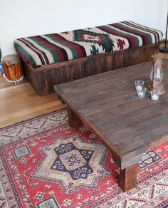 pallet table and crate n' pallet daybed