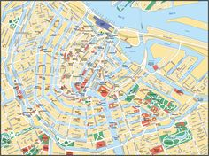 City Map Of Amsterdam Netherlands | Map of Amsterdam. City maps of Netherlands — Planetolog.com