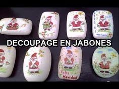 MANUALIDADES DECOUPAGE SOBRE JABONES - YouTube