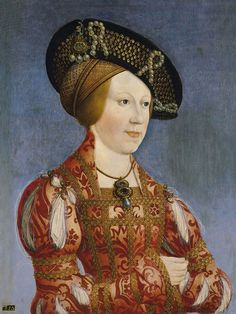 ca. 1520 Anne of Bohemia and Hungary by Hans Maler (Museo Thyssen-Bornemisza - Madrid Spain) | Grand Ladies | gogm