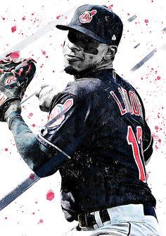 Francisco Lindor by Smh Yrdbk Baseball Guys, Chicago Cubs Baseball, Baseball Art, Baseball Players, Mlb Players, Baseball Season, Baseball Stuff, Baseball Cleats, Basketball
