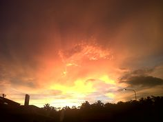 Taken from Bumiayu, February 2012. It was the mooooost beautiful sky I've ever seen :>